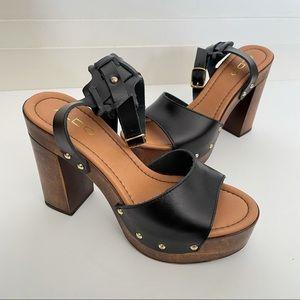 BNIB - Aldo Platform Leather Studded Sandals